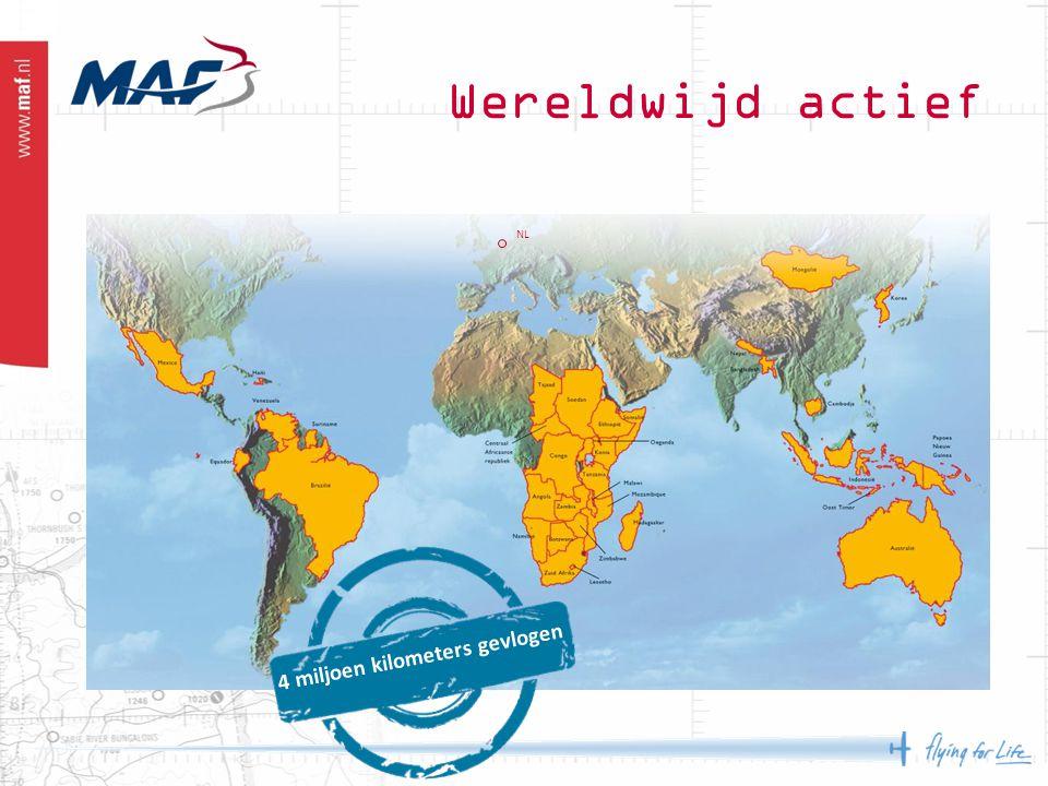 Wereldwijd actief NL 4 miljoen kilometers gevlogen