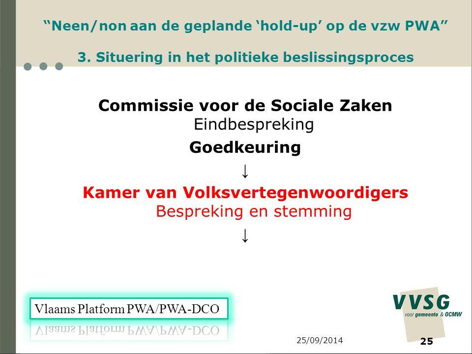 25/09/2014 25 Neen/non aan de geplande 'hold-up' op de vzw PWA 3.