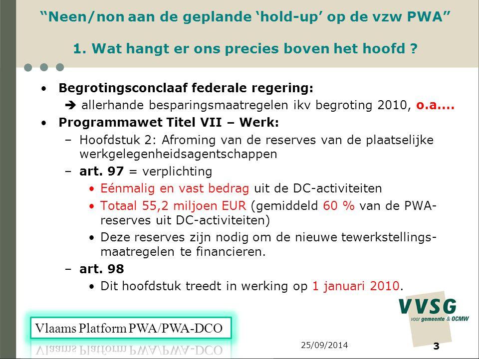 25/09/2014 3 Neen/non aan de geplande 'hold-up' op de vzw PWA 1.
