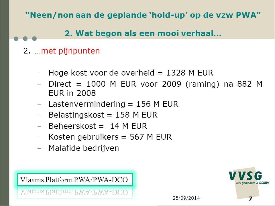 25/09/2014 7 Neen/non aan de geplande 'hold-up' op de vzw PWA 2.