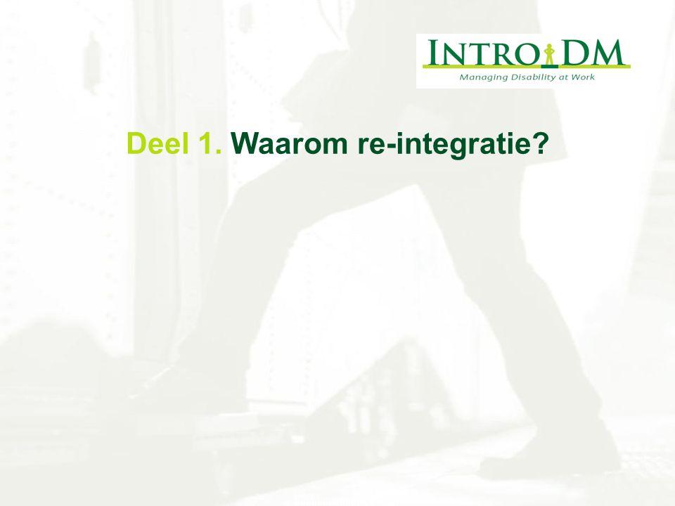 Deel 1. Waarom re-integratie?