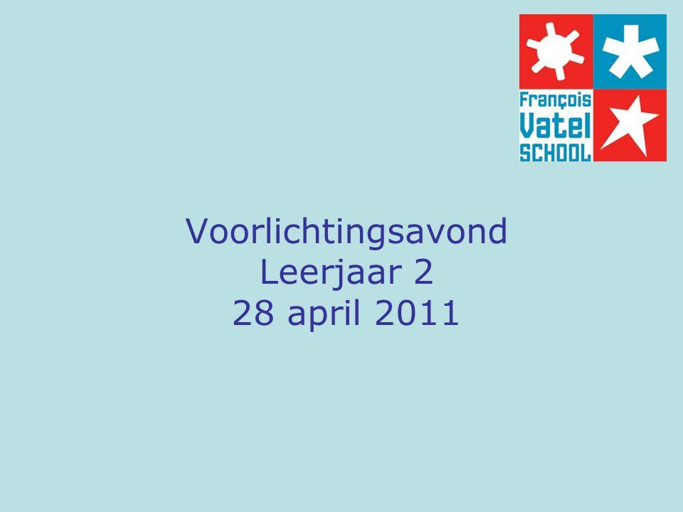 Voorlichtingsavond Leerjaar 2 28 april 2011