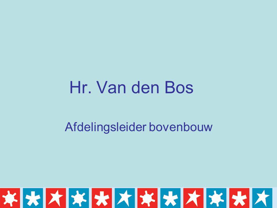 Hr. Van den Bos Afdelingsleider bovenbouw