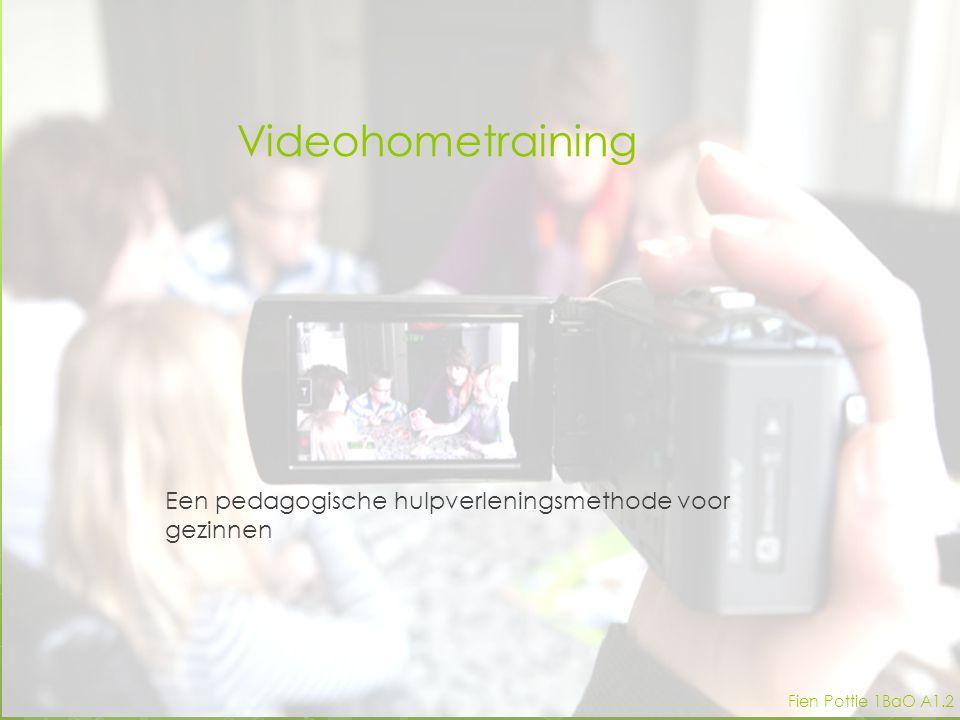 Videohometraining Een pedagogische hulpverleningsmethode voor gezinnen Fien Pottie 1BaO A1.2