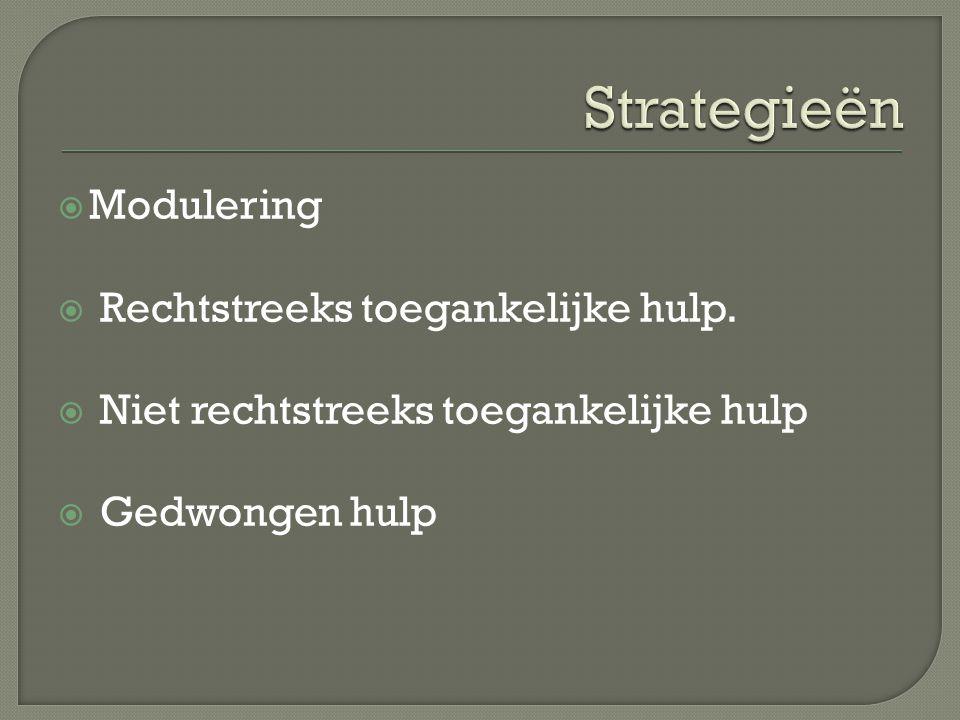  Modulering  Rechtstreeks toegankelijke hulp.