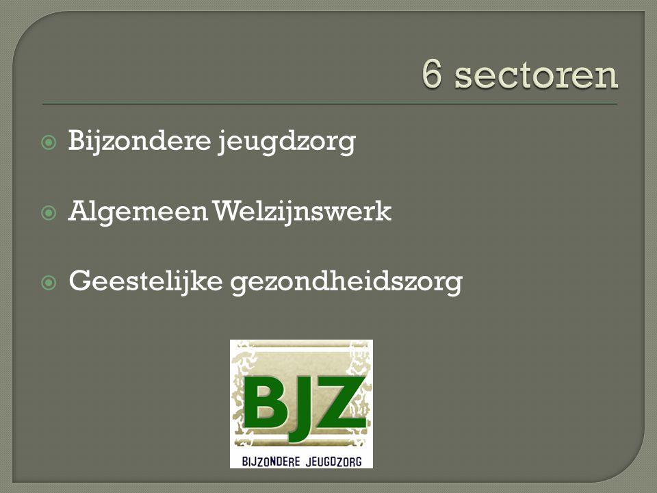  Bijzondere jeugdzorg  Algemeen Welzijnswerk  Geestelijke gezondheidszorg