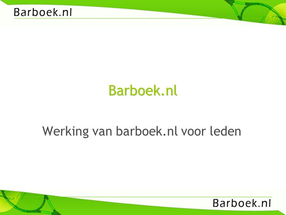 Barboek.nl Werking van barboek.nl voor leden