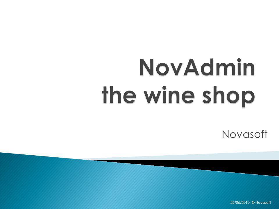NovAdmin the wine shop Bestelbons Leveringsbons Facturen
