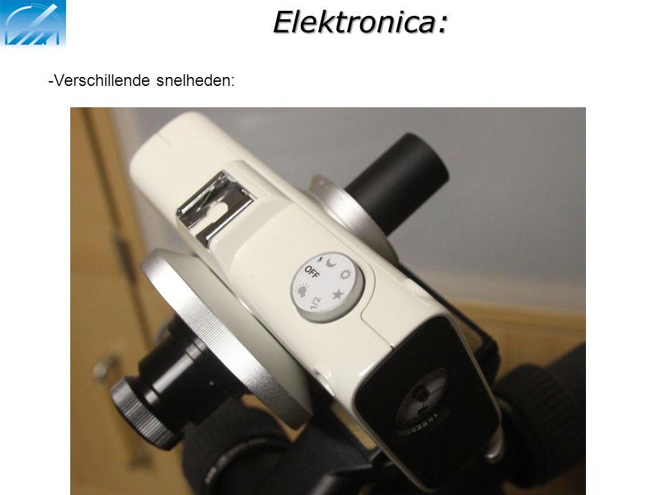 Elektronica: -Verschillende snelheden: