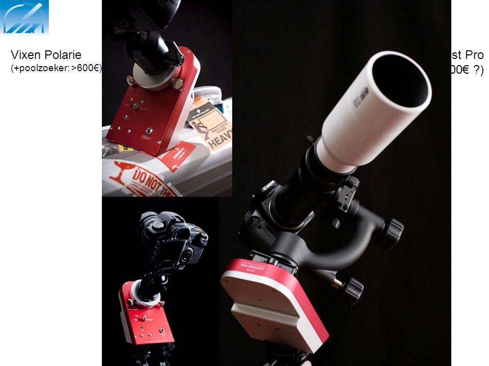 Compacte volgsystemen: 2) volgklokje Vixen Polarie (+poolzoeker: >600€) Toast Pro (+/-1000€ )