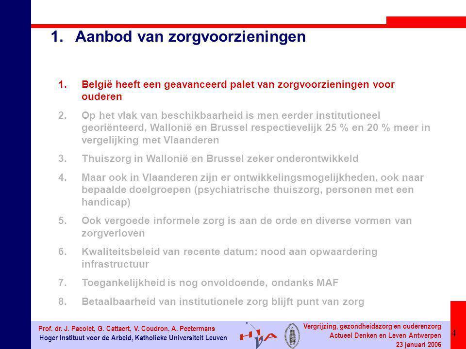 25 Hoger Instituut voor de Arbeid, Katholieke Universiteit Leuven Prof.