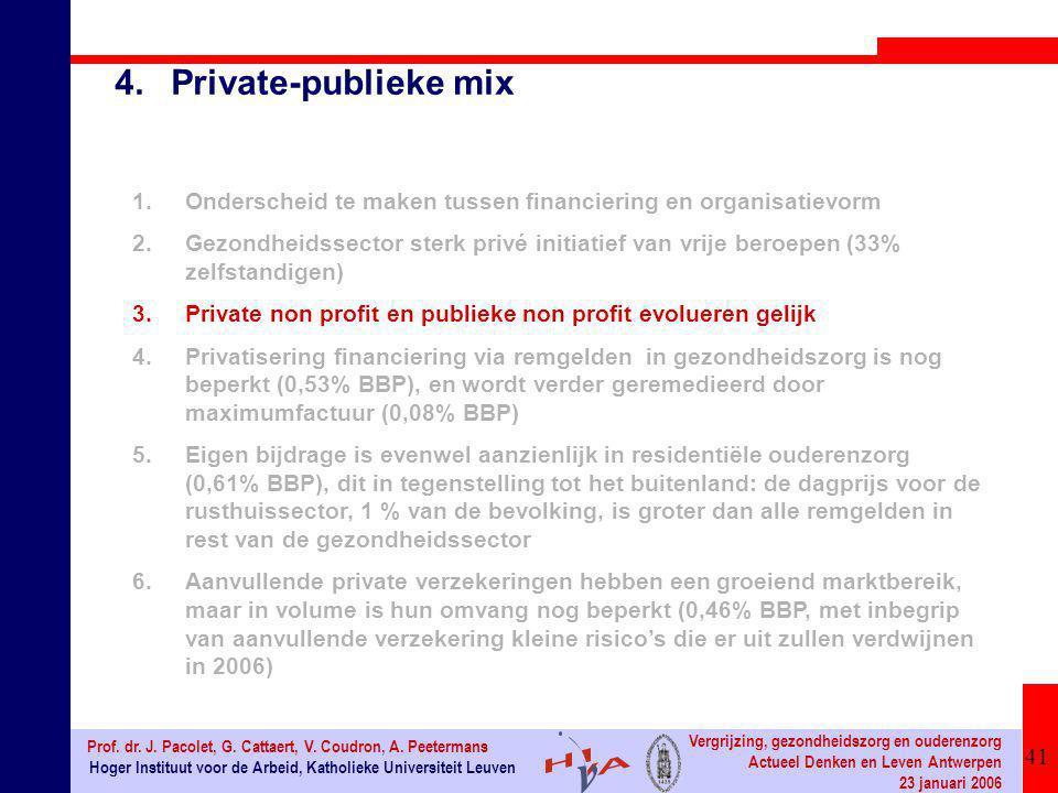 41 Hoger Instituut voor de Arbeid, Katholieke Universiteit Leuven Prof. dr. J. Pacolet, G. Cattaert, V. Coudron, A. Peetermans Vergrijzing, gezondheid