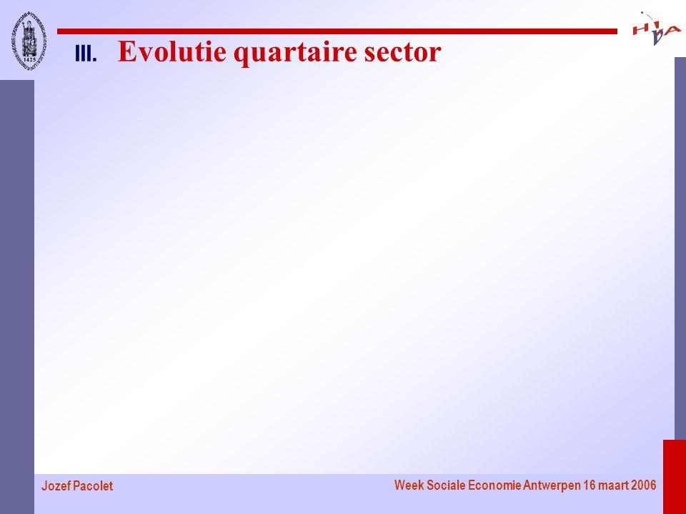 Week Sociale Economie Antwerpen 16 maart 2006 Jozef Pacolet III. Evolutie quartaire sector