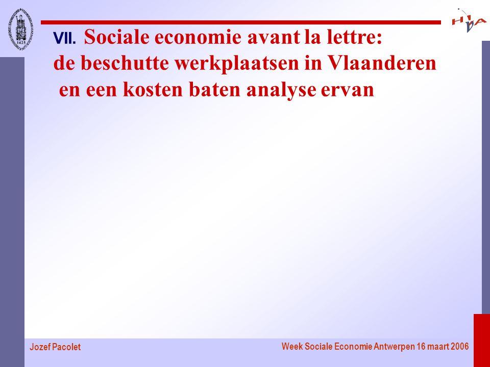 Week Sociale Economie Antwerpen 16 maart 2006 Jozef Pacolet VII.