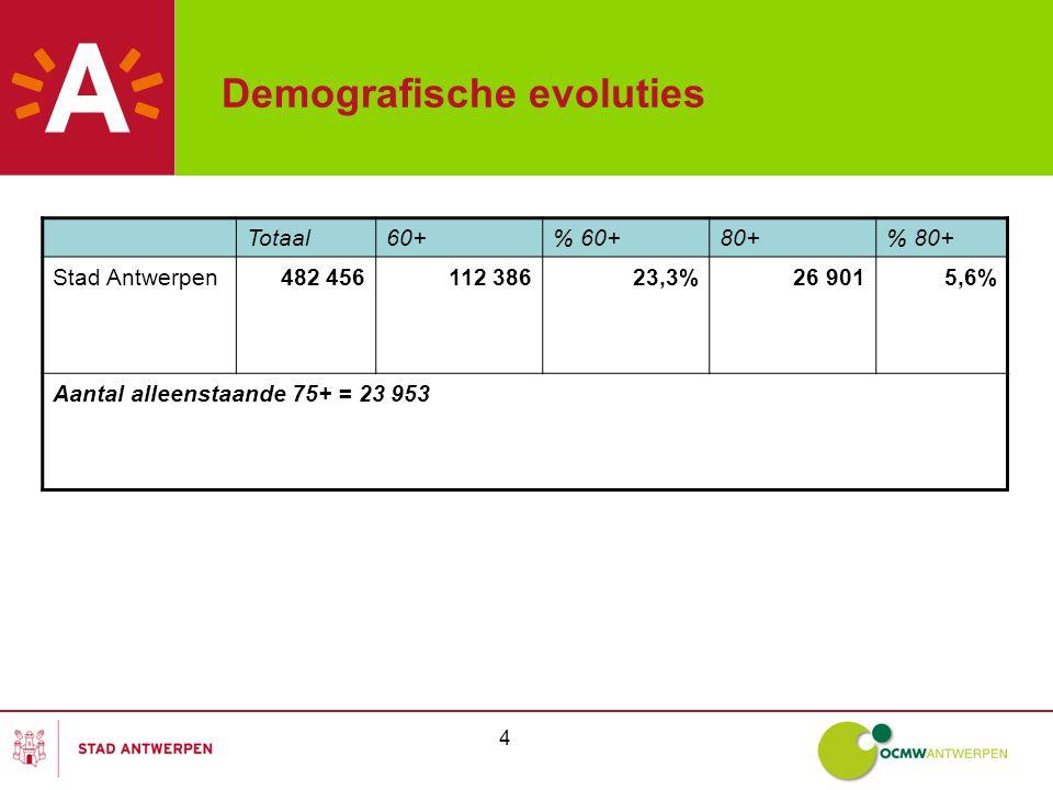 15 Samenwerking Inspraak en participatie -De ouderenraad en seniorenraden moeten er voor zorgen dat iedere Antwerpse oudere een 'stem' heeft of krijgt.