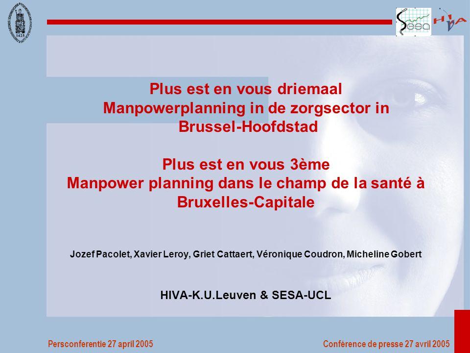 Persconferentie 27 april 2005 Conférence de presse 27 avril 2005 2.3 Pendel Woonplaats van werknemers tewerkgesteld in Brussel, 2001