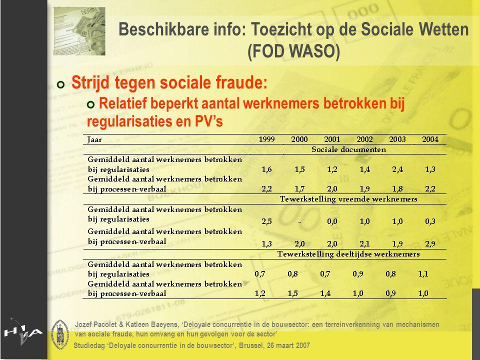 Jozef Pacolet & Katleen Baeyens, 'Deloyale concurrentie in de bouwsector: een terreinverkenning van mechanismen van sociale fraude, hun omvang en hun