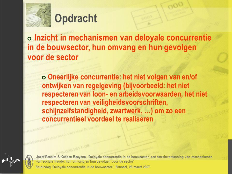Jozef Pacolet & Katleen Baeyens, 'Deloyale concurrentie in de bouwsector: een terreinverkenning van mechanismen van sociale fraude, hun omvang en hun gevolgen voor de sector' Studiedag 'Deloyale concurrentie in de bouwsector', Brussel, 26 maart 2007 # Gevolgen deloyale concurrentie: # Inschatting verlies aan werk: gemiddeld 1,8 – 2,5 VTE (25% - 31% van totaal aantal werknemers) Resultaten 2006: deloyale concurrentie