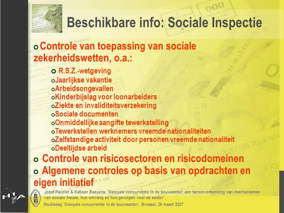 Jozef Pacolet & Katleen Baeyens, 'Deloyale concurrentie in de bouwsector: een terreinverkenning van mechanismen van sociale fraude, hun omvang en hun gevolgen voor de sector' Studiedag 'Deloyale concurrentie in de bouwsector', Brussel, 26 maart 2007 # Beperkte sectorale informatie # Door de SI gecontroleerde werkgevers in de bouwsector: # Absoluut: Substantiële daling tijdens de periode 1995 – 2003 # Relatief (t.o.v.