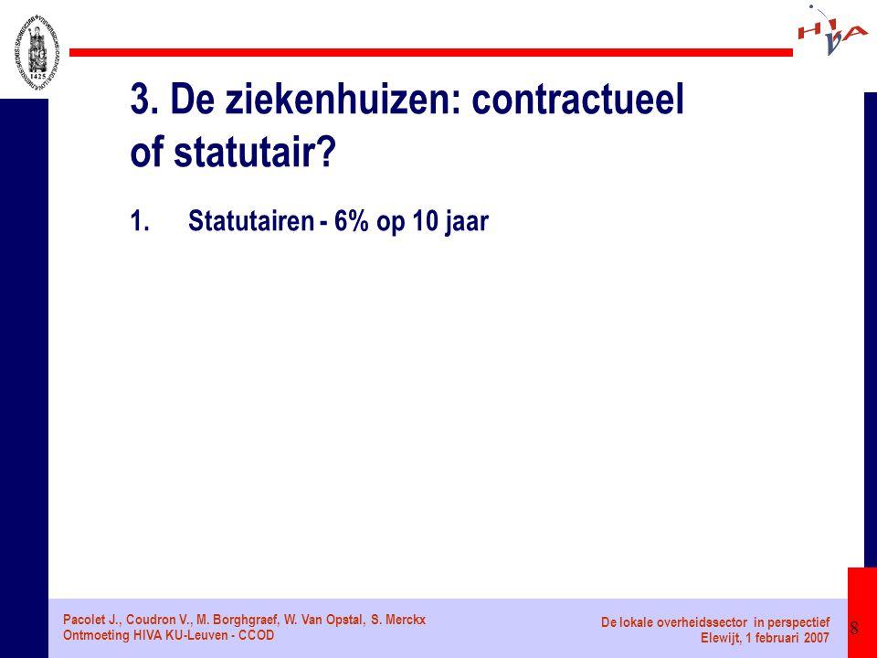 Pacolet J., Coudron V., M.Borghgraef, W. Van Opstal, S.