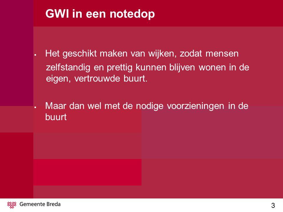 4 Evaluatie en resultaten GWI 2002–2006  wonen  woonomgeving/buitenruimte  zorg en welzijn