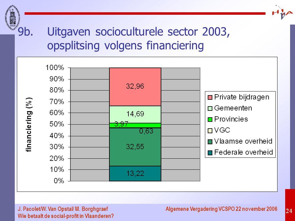 Algemene Vergadering VCSPO 22 november 2006 24 J.Pacolet/W.