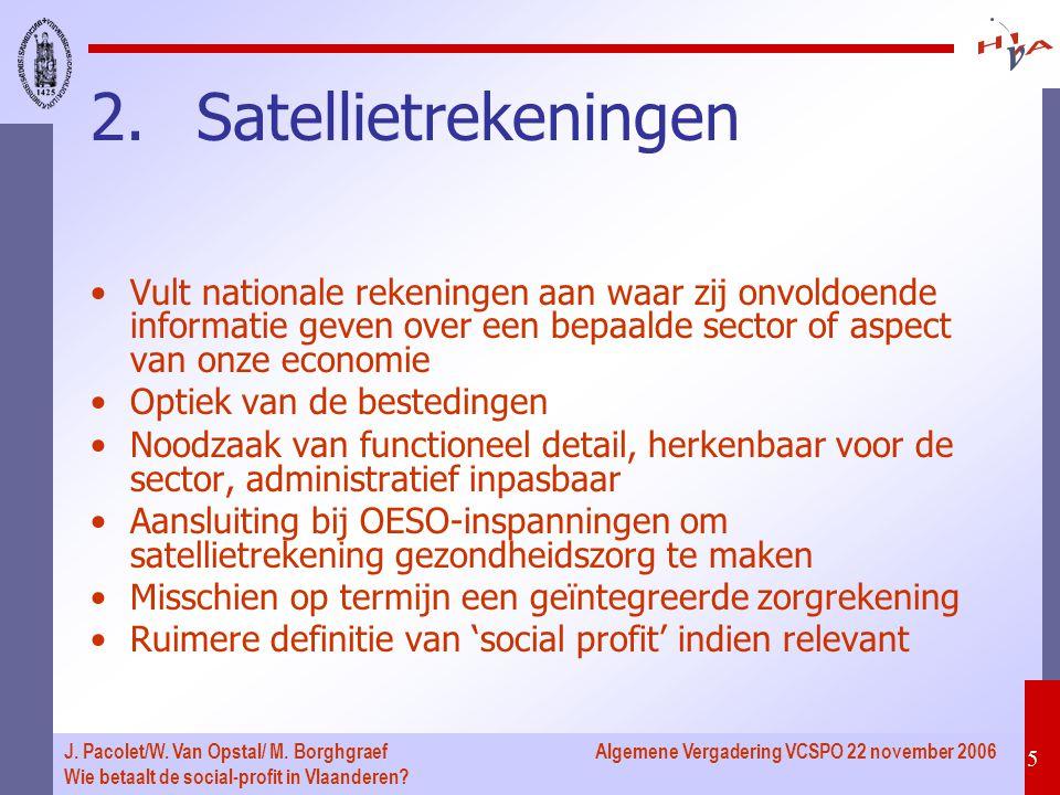 Algemene Vergadering VCSPO 22 november 2006 5 J.Pacolet/W.