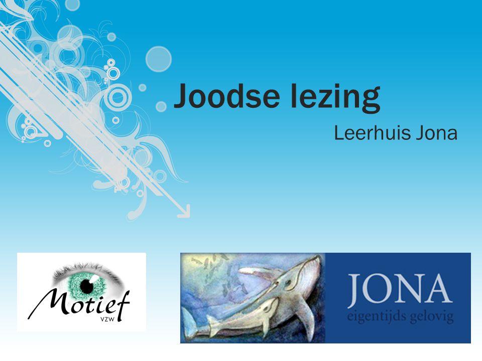 Joodse lezing Leerhuis Jona