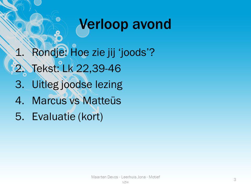 Maarten Devos - Leerhuis Jona - Motief vzw 3 Verloop avond 1.Rondje: Hoe zie jij 'joods'.