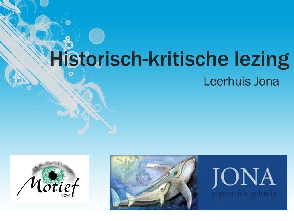 Historisch-kritische lezing Leerhuis Jona