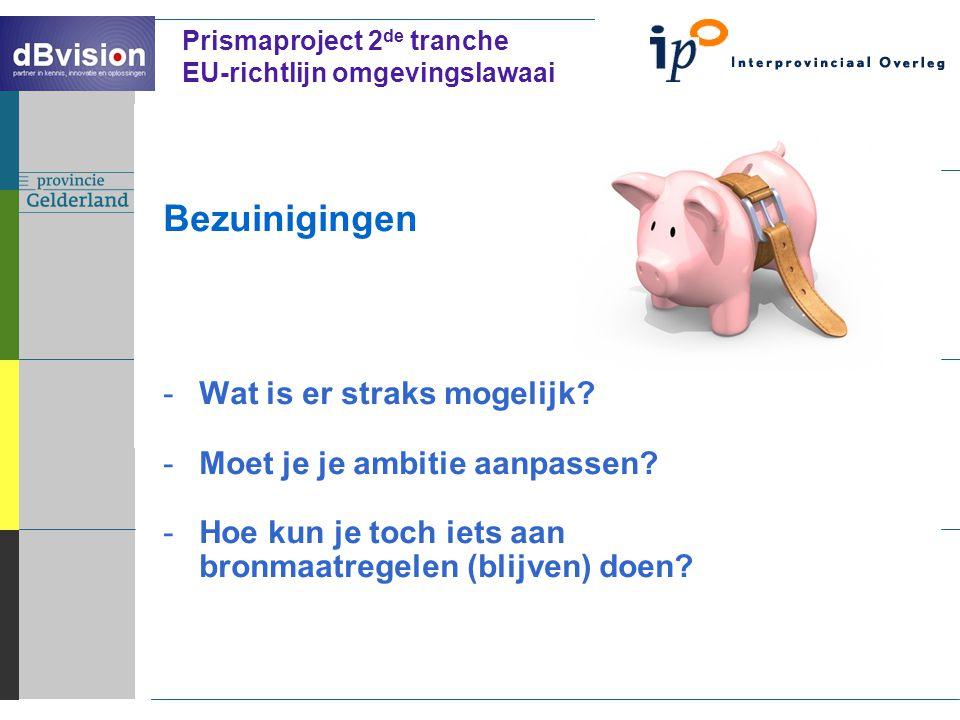 ` Prismaproject 2 de tranche EU-richtlijn omgevingslawaai Bezuinigingen -Wat is er straks mogelijk.