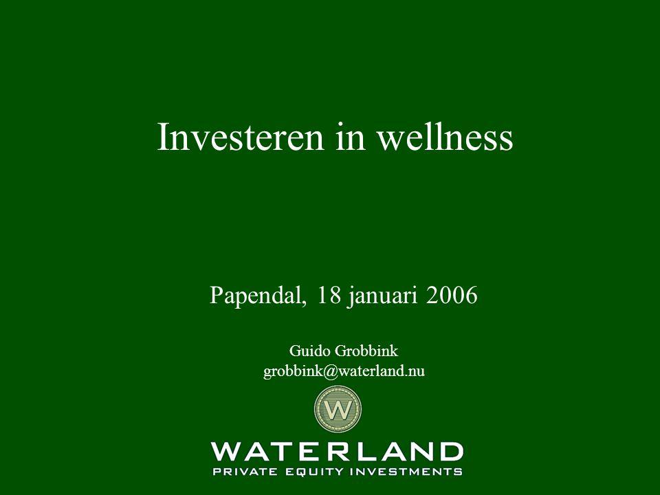 2 Investeren in wellness Introductie Waterland Investering in HealthCity Waterland s visie op toekomst fitness