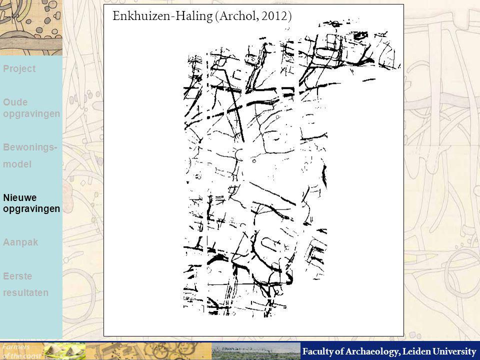 Faculty of Archaeology, Leiden University Project Oude opgravingen Bewonings- model Nieuwe opgravingen Aanpak Eerste resultaten Enkhuizen-Haling (Arch