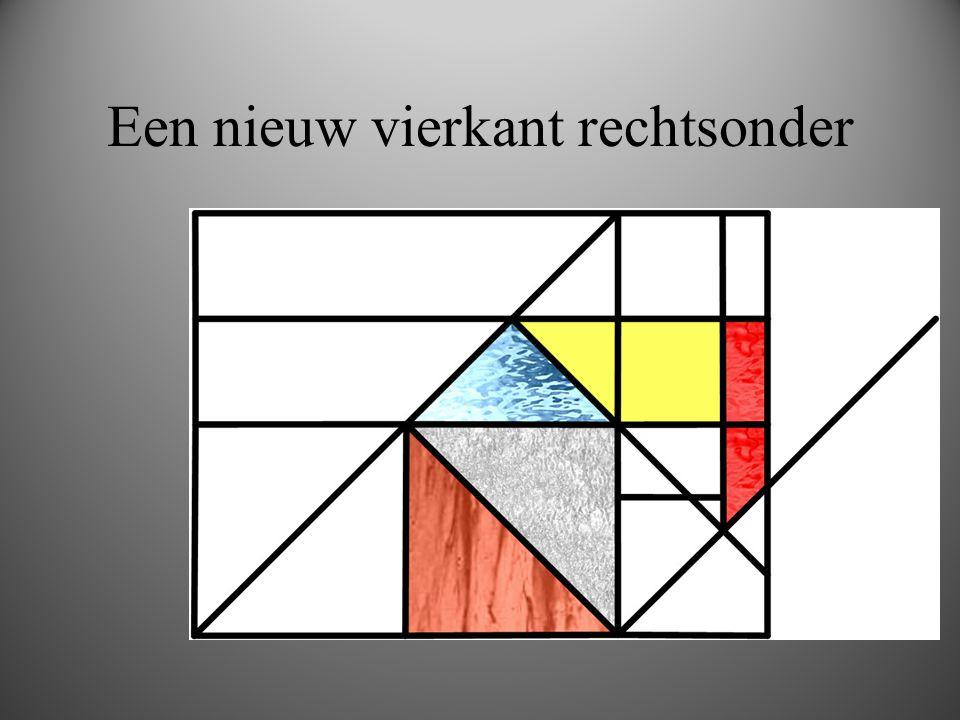 Een nieuw vierkant rechtsonder