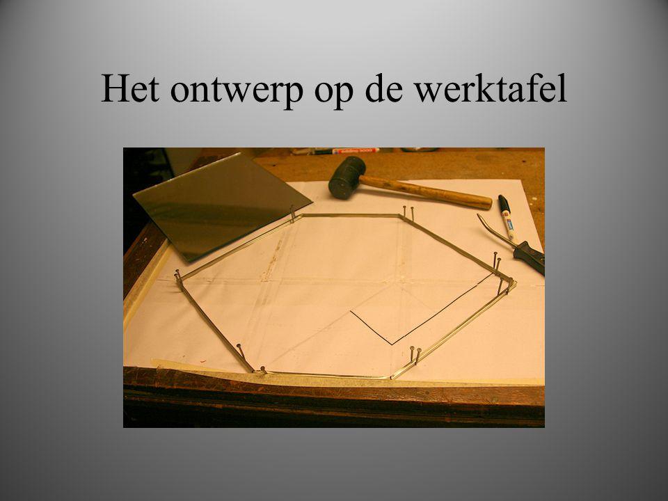 Het ontwerp op de werktafel