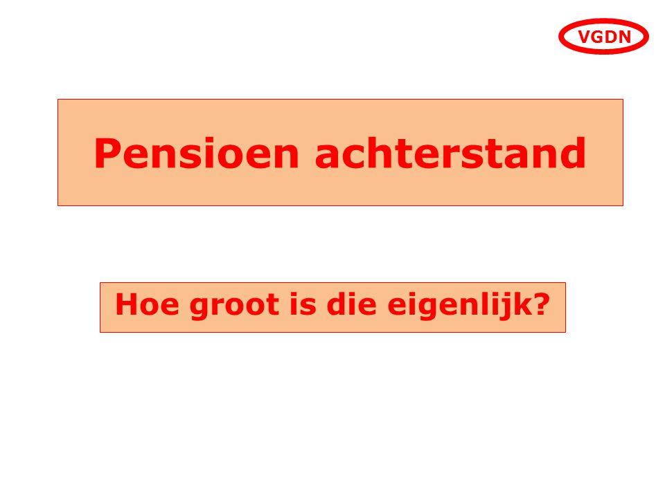 Pensioen achterstand Hoe groot is die eigenlijk? VGDN