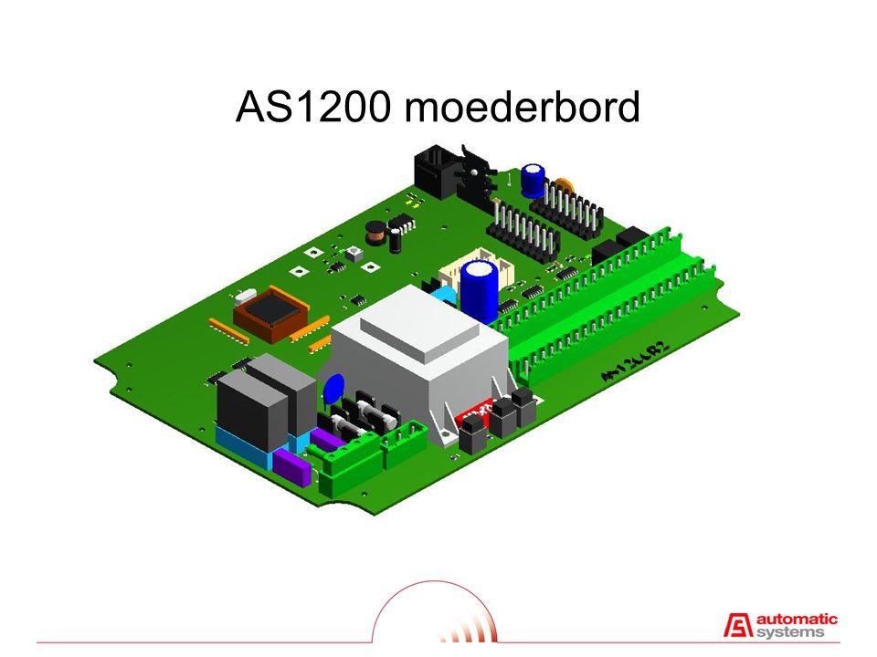 AS1200 Structuur RELREL Micro- controller P W F I / O I²C -Bus (seriëel) EEPROMDP1 B1 B2 DP2 B3 B4 AS1225 B1 B2 AS1225 B3 B4 AS1220 AS1221 AS1222