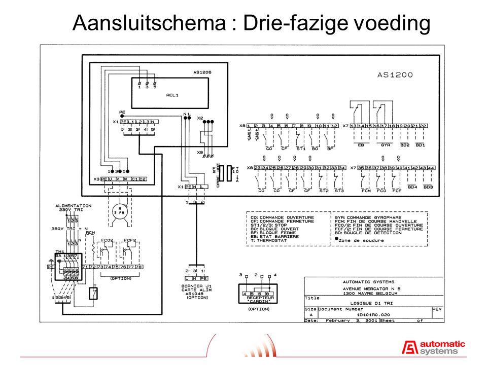 LED 's LD 1 (1:24) :Groen, watchdog ( processor/programma = OK) LD 2 (1:17) :Rood, programmatie indicators en uit-bedrijf signalisatie LD 3 (1:25) :Groen, eindeloopcontact open stand LD 4 (1:25) :Groen, eindeloopcontact gesloten stand LD 5 (1:25) :Groen, zwengelbeveiligingscontact LD 6 (1:25) :Groen, openingscommando (OVB) LD 7 (1:25) :Groen, sluitcommando (FRB) LD 8 (1:25) :Groen, stopcommando (STOP) LD 9 (1:25) :Groen, geblokkeerd open commando (BLQO) LD10 (1:25) :Groen, geblokkeerd gesloten commando (BLQF) LD11 (1:26) :Groen, relais REL1 actief LD12 (1:26) :Groen, relais REL2 actief LD15 (1:27) :Groen, relais REL3 actief LD16 (1:27) :Groen, relais REL4 actief LD17 (1:28) :Oranje, 24V DC LD18 (1:28) :Oranje, 5V DC