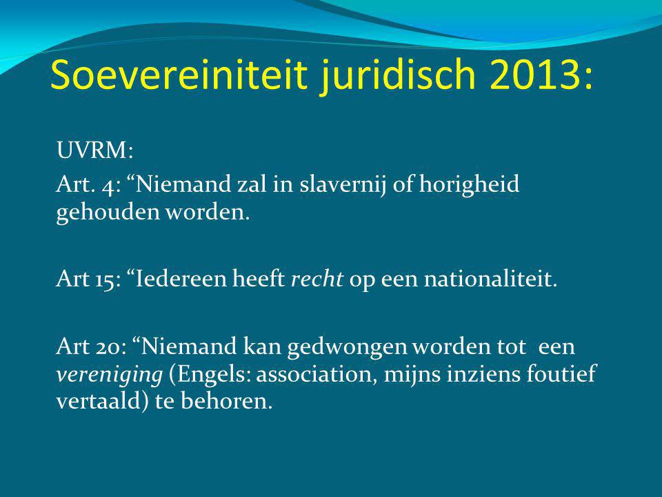 Soevereiniteit juridisch 2013: UVRM: Art.