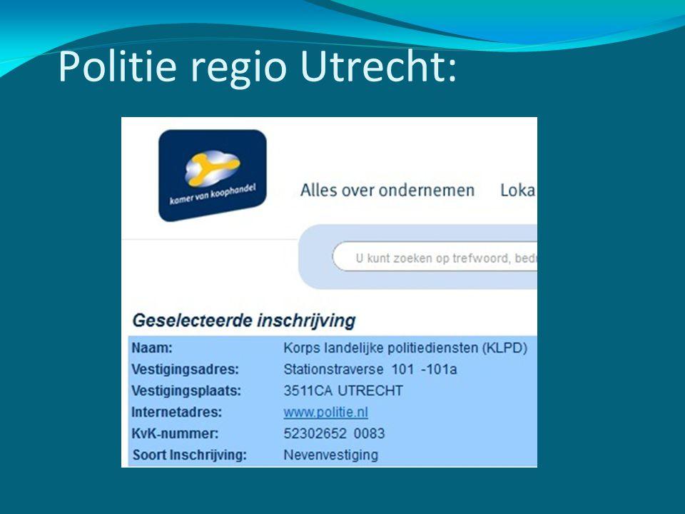 Politie regio Utrecht: