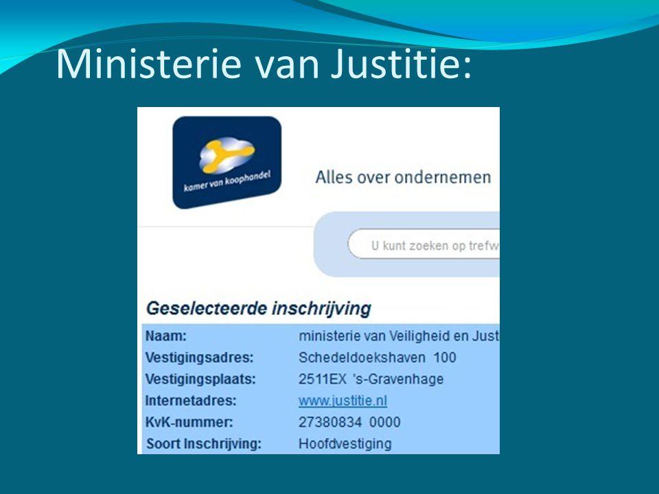 Ministerie van Justitie: