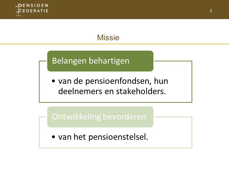 3 van de pensioenfondsen, hun deelnemers en stakeholders.