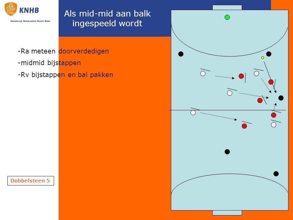 Nieuwe regels Snel nemen in de breedte, naar as Guard gebruiken Rechterkant meer binnenkant houden in press 2:1 in breedte uitspelen dus tweede man mee