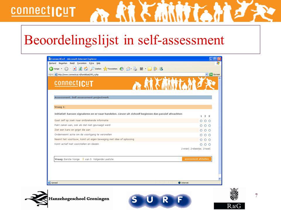 7 Beoordelingslijst in self-assessment