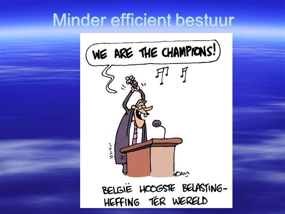 Minder efficient bestuur