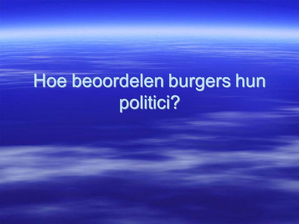 Hoe beoordelen burgers hun politici?