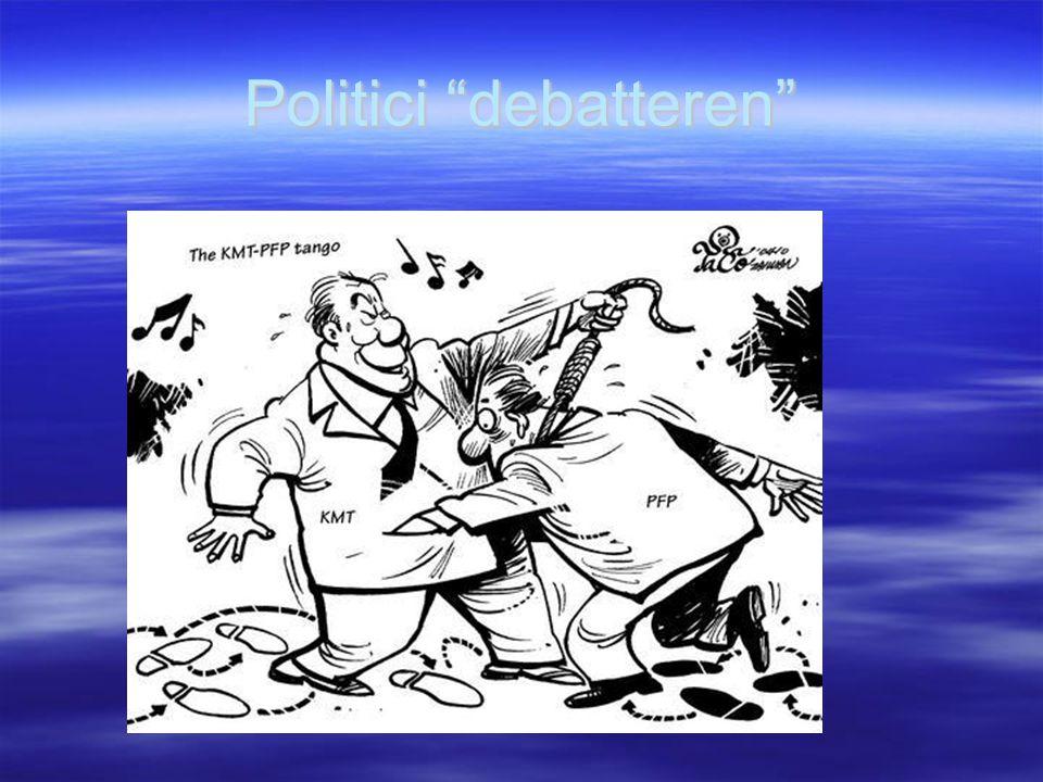 Politici debatteren