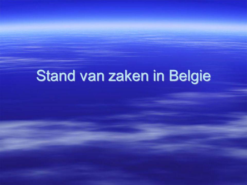 Stand van zaken in Belgie