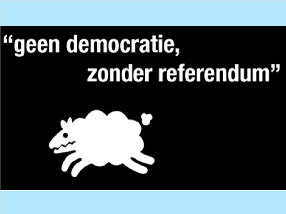Opvangen huidige tekortkomingen op wetgevend vlak  - Het referendum bindend te maken.