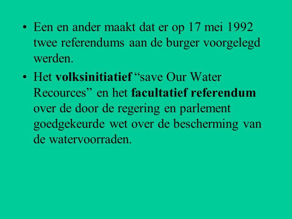 Een en ander maakt dat er op 17 mei 1992 twee referendums aan de burger voorgelegd werden.